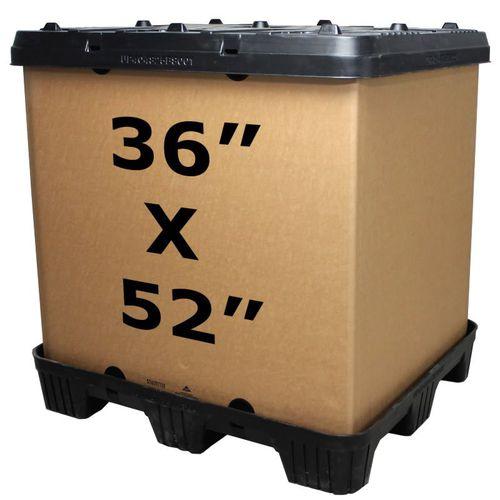 cassa-pallet in plastica / industriale / impilabile / con coperchio