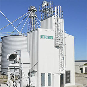 Essiccatore da centrifuga / ad aria calda / per l'industria agroalimentare / continuo Eco Dry Bühler