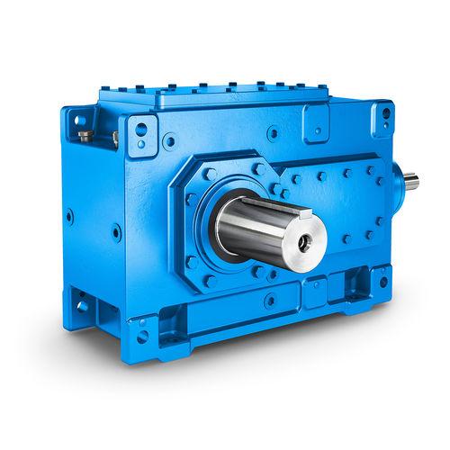 riduttore a coppia conica / a ingranaggi elicoidali / ad assi ortogonali / industriale
