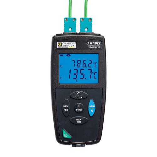 termometro con sonda / a termocoppia / con display digitale / portatile