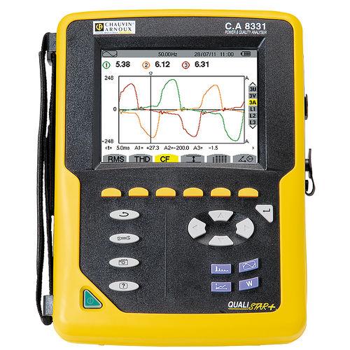 analizzatore per rete elettrica / di qualità di energia / portatile / compatto