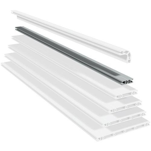profilato in alluminio / con scanalature / leggero / di costruzione