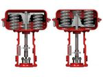 attuatore per valvola pneumatico / lineare / a pistone / con ritorno a molla