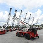 gru montata su camion / telescopica / con braccio / per terreno accidentato
