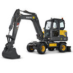 escavatore mini / su ruote / per cantiere / diesel
