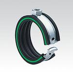 clip per tubazioni / in acciaio galvanizzato / di fissaggio / a molla