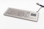 Tastiera da ufficio / con touchpad / in acciaio inox / compatta TKV-084-FIT-TOUCH-IP65-MGEH INDUKEY