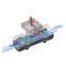 misuratore di portata a vortice / per acqua / in linea