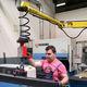 manipolatore pneumatico / con gancio / con magnete di sollevamento / per componenti meccaniche