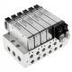 elettrovalvola a comando assistito / a 5/2 vie / aria / in alluminio