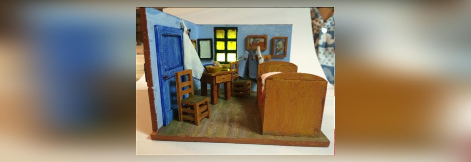 Camera da letto sudcoreana del Van Gogh ripiegato del figlio e del ...