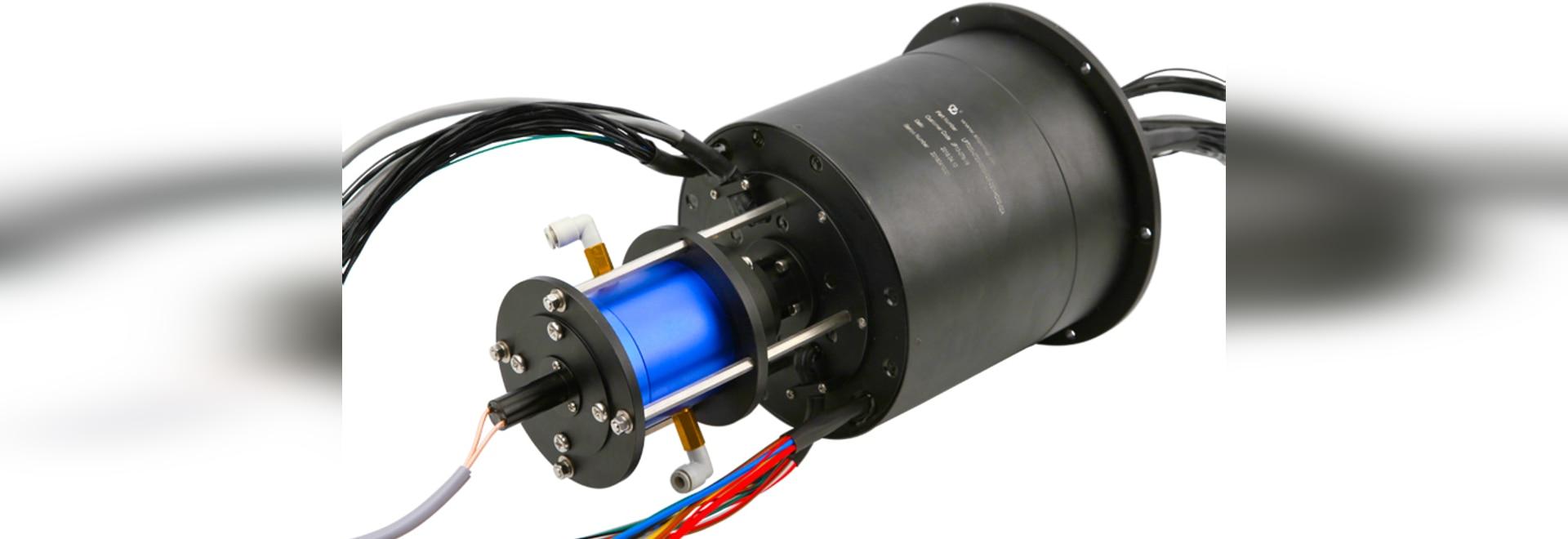 Giunto rotante integrato idraulico ed elettrico pneumatico