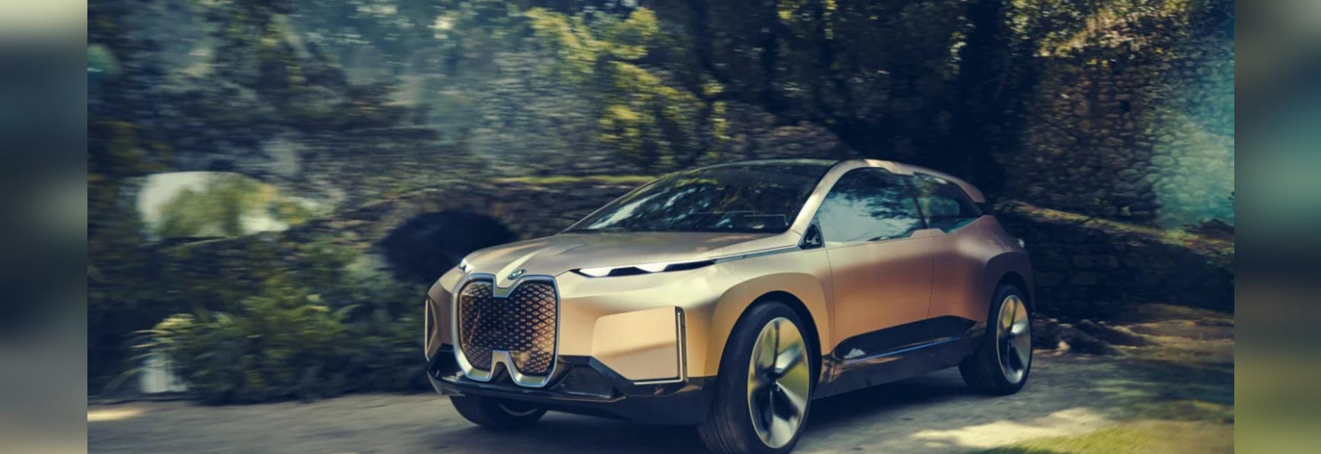 Il iNEXT Concept Car della visione di BMW caratterizza un 3D confezionato sensore ha stampato la griglia