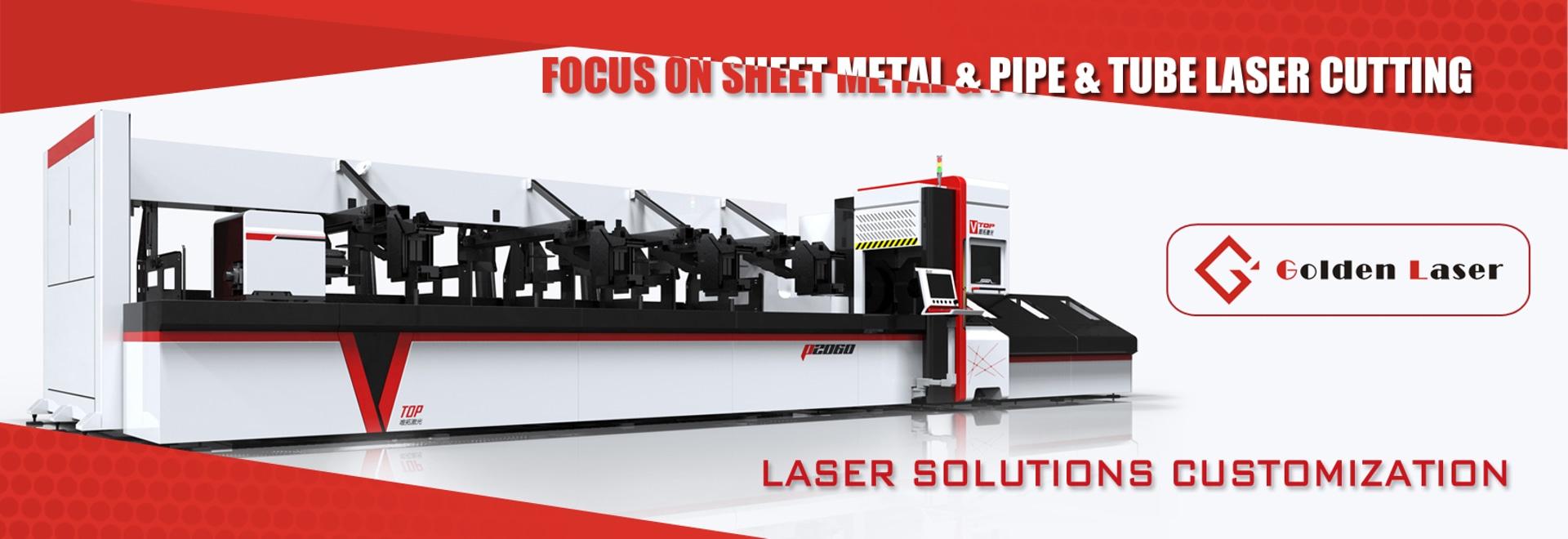 Macchina di taglio quadrato dell'acciaio inossidabile rotonda tubo in fibra di metallo Laser Per Office scrivania, mensola di esposizione