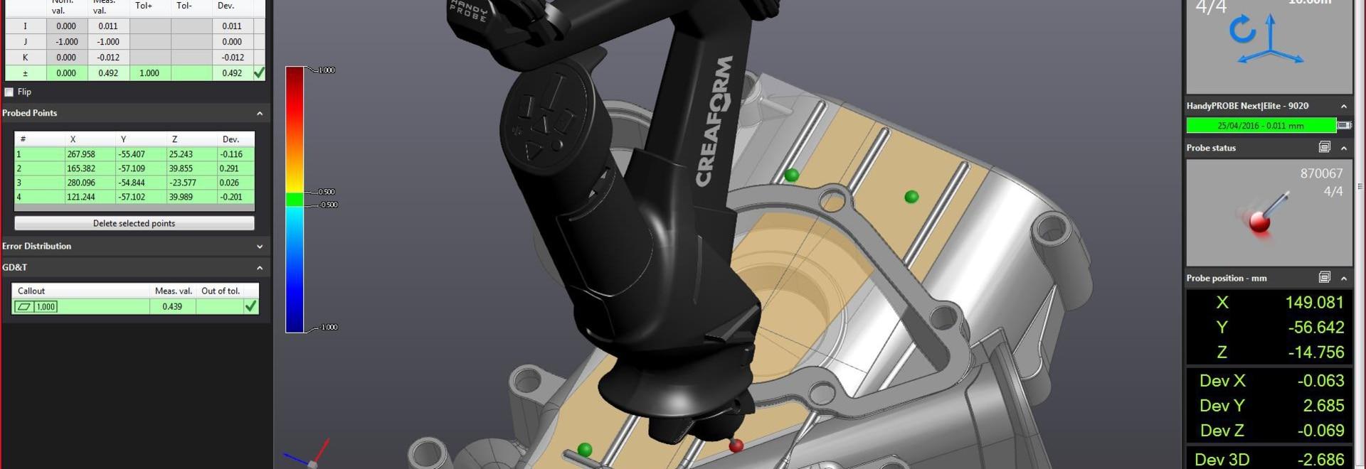 La nuova versione di Creaform di VXinspect consegna l'integrazione senza precedenti con i suoi analizzatori 3D ed il sistema di sondaggio portatile per la misura più veloce della parte