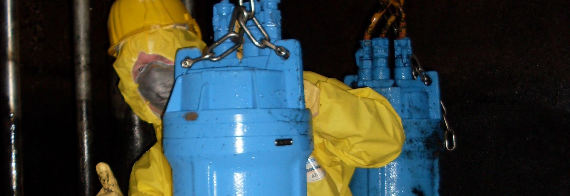 Pompa di vortice di Egger nel pozzetto