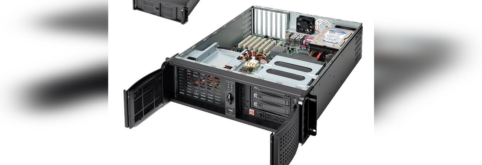 Telaio di calcolo del server della nuvola di AICSYS Inc. 3U IoT per la scheda madre di ATX e 10 baie di azionamento