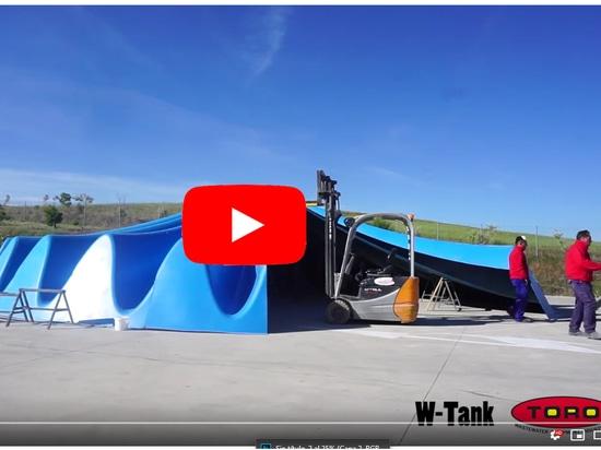 W-Tank®, prova di montaggio del coperchio dell'ipar di prova