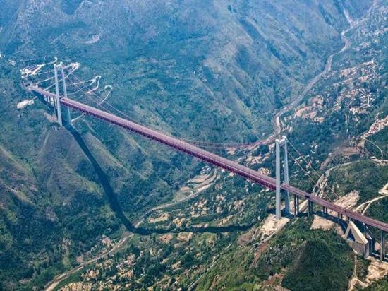Le gru di costruzione di SANY dimostrano la prestazione notevole in più alti ponti sospesi del mondo