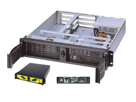 """Telaio Rackmount di AICSYS Inc. 2U per lo sbc con (1) 5,25"""" & (2) 3,5"""" baie di azionamento, slot PCI 4. La superficie posteriore di SHB di PICMG 1,0 o 1,3 sostiene l'alimentazione elettrica di dime..."""