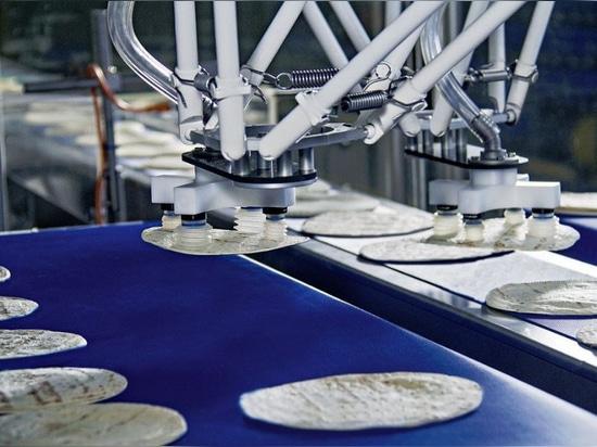 Robot di delta per l'imballaggio primario, cortesia di Bosch