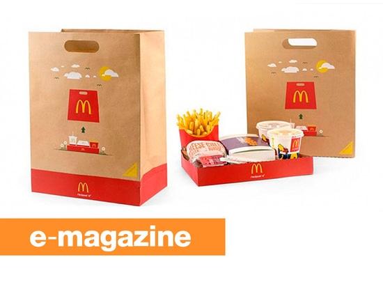 McDonald BagTray: La borsa da portar via che si trasforma in in un vassoio