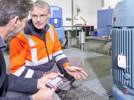 Sensore astuto di ABB per il monitoraggio del motore e della pompa