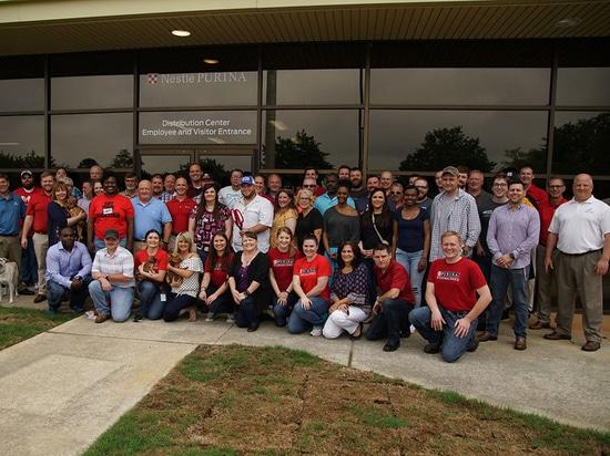 Fabbricazione dell'alimento per animali domestici di Nestle Purina e funzione di distribuzione, Hartwell, Georgia, Stati Uniti