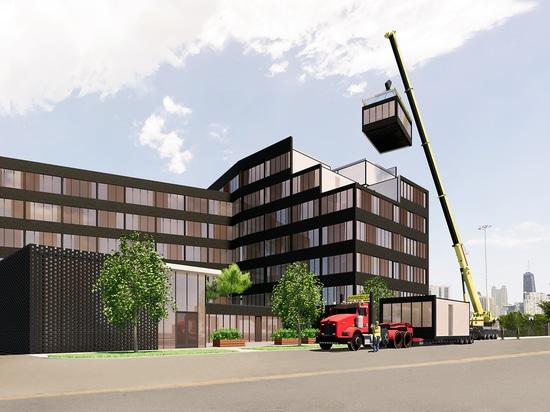 Fabbrica dell'appartamento della rottura-Insieme di piani dell'appaltatore di Chicago