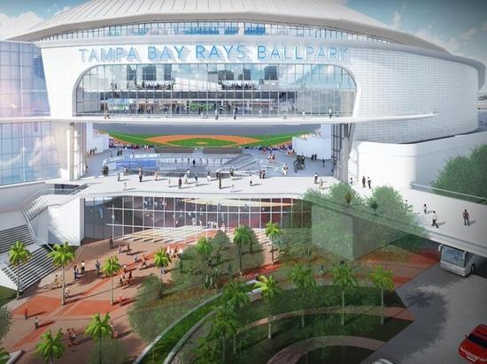 I Tampa Bay Rays rivelano le rappresentazioni dello stadio a cupola