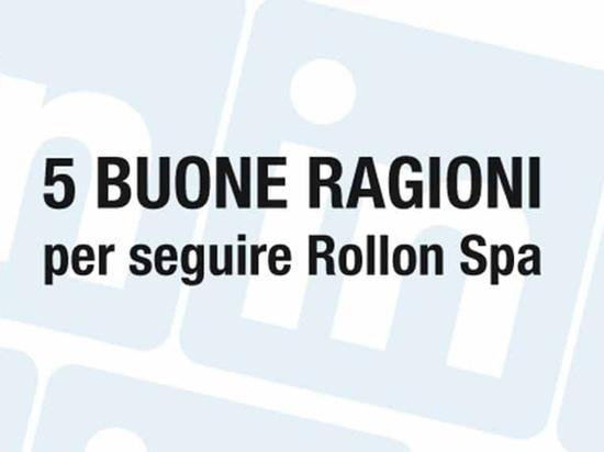 5 buone ragioni per seguire Rollon Spa su LinkedIn