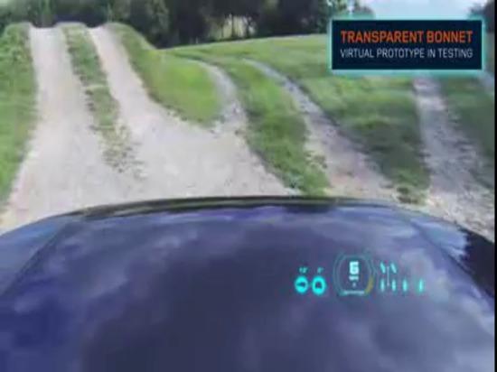 """Tecnologia del cappuccio trasparente"""" di concetto di visione """"di scoperta   Land Rover S.U.A."""