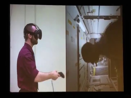 NASA su addestramento di VR per la Stazione Spaziale Internazionale e la realtà di Hyrbid