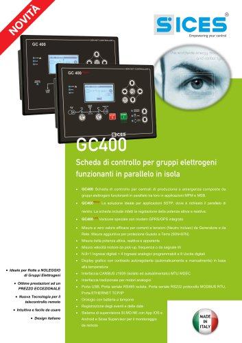 GC400 - Schede di controllo per gruppi elettrogeni in parallelo