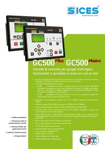 GC500 - Schede di controllo per gruppo elettrogeni funzionanti in parallelo
