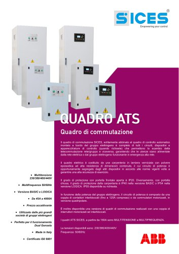 Quadro ATS versione Basic e Logica