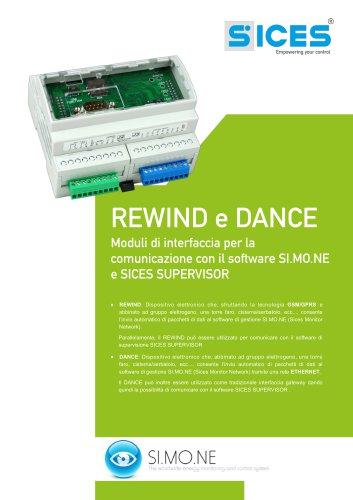 REWIND&DANCE - Interfacce di comunicazione con i software SI.MO.NE e SICES SUPERVISOR