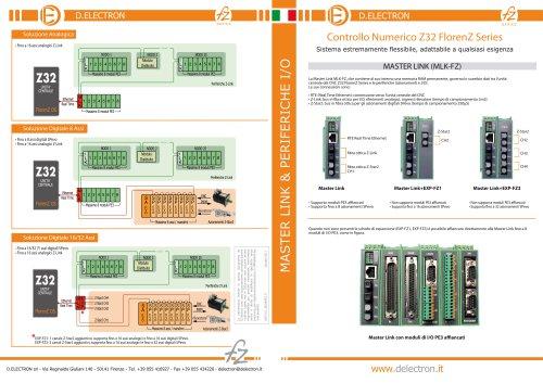 CNC Z32 FlorenZ Series - Master Link & Periferiche I/O