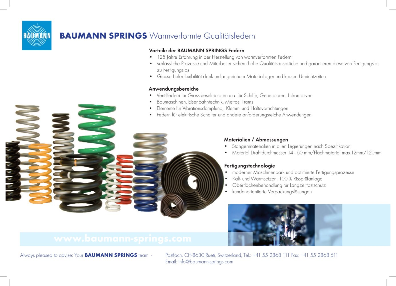 Warmverformte Qualitätsfedern - BAUMANN SPRINGS LTD. - Catalogo PDF ...