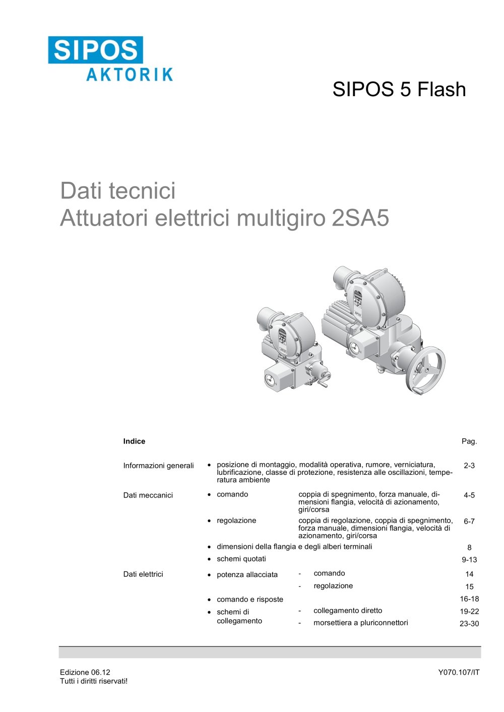 Schemi Elettrici Pdf : Dati tecnici attuatori elettrici multigiro sa sipos aktorik