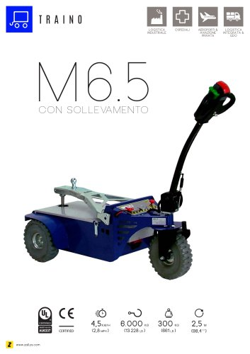 M6.5 trainatore elettrico con sollevamento