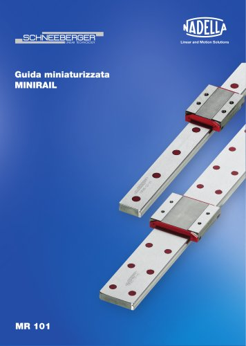 Guida miniaturizzata MINIRAIL