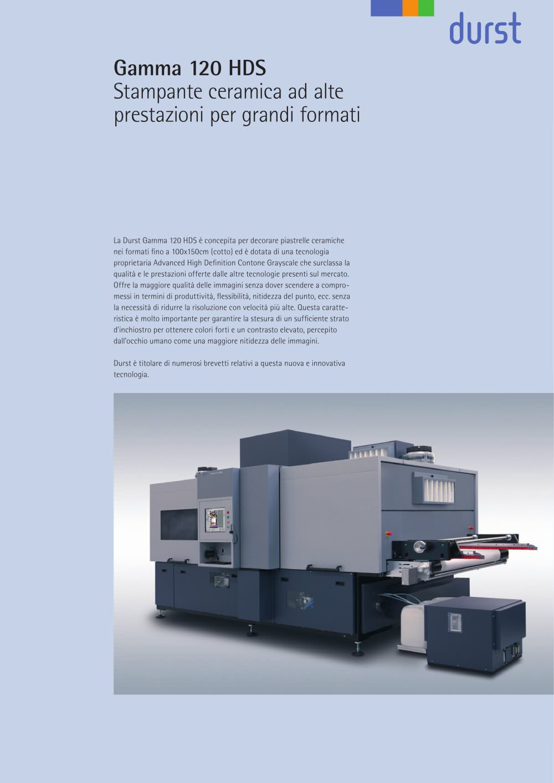 gamma 120 hds durst phototechnik ag catalogo pdf