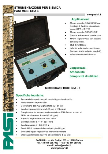 Sismografo 3 canali GEA3