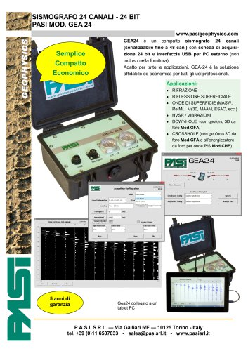 Sismografo GEA 24 - NEW !!!