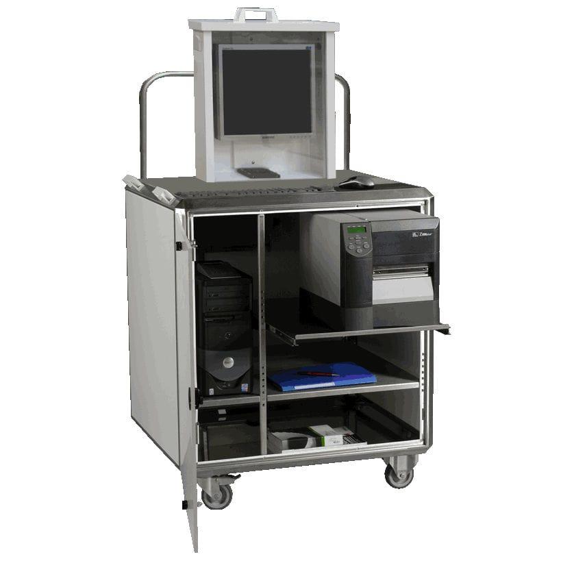 Armadio Pc Acciaio Inox.Scatola Mobile Per Computer Desktop Rettangolare In