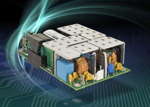 alimentazione elettrica AC/DC / ad uscita semplice / 1U / con compensatore del fattore di potenza PFC