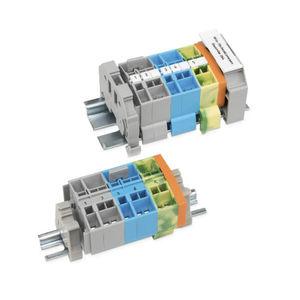 morsetto componibile in miniatura / con connessione a molla / su guida DIN / passante