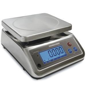 bilancia benchtop / con display LCD / in acciaio inossidabile / con vassoio in acciaio inossidabile