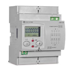 contatore di energia elettrica trifase / su guida DIN / con display LCD / programmabile